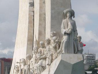 MONUMENT DE VASCO DE GAMA HENRI LE NAVIGATEUR PRECED LA COHORTE DES MARINS
