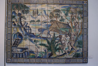 MUSEE DO AZULEJO SCENE EXOTIQUE