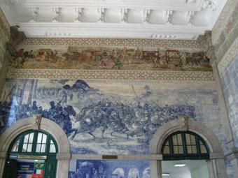 la prise de Ceuta azulejos de la gare