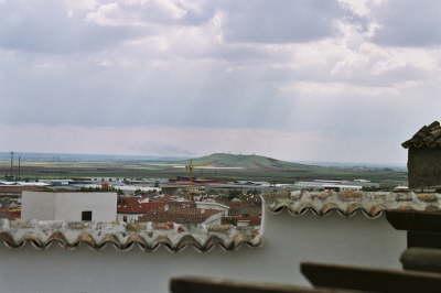 Vue sur les moulins de Alcazar de San Juan