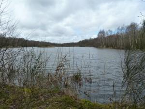 Nous longeons des étangs après Les Haies