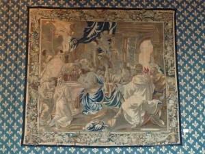 Le baptême de Clovis, ancienne tapisserie de la cathédrale actuellement au musée de Tau