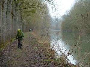 Le long du canal transversal de l'Aisne