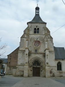 """Tour porche de l""""église Saint Thibault à Château Porcien XVI ième siècle"""