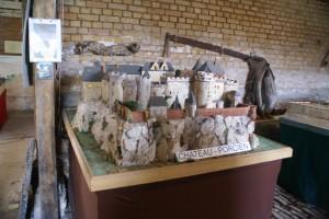 maquette de Château Porcien avant la démolition de murailles