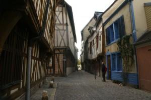 Ruelle pavée de Troyes
